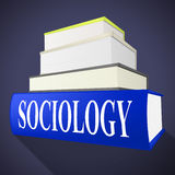 Sociology Books Shows Non-Fiction Knowledge And Assistance. Sociology Books Representing Answer Inform And Advisor Royalty Free Stock Photos