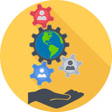 Sociology Flat Icon. Sociology Round Flat Icon. Vector Illustration Stock Images
