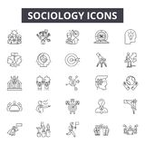 Sociology line icons for web and mobile design. Editable stroke signs. Sociology  outline concept illustrations. Sociology line icons for web and mobile vector illustration