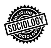 Sociology rubber stamp. Grunge design with dust scratches. Effects can be easily removed for a clean, crisp look. Color is easily changed Stock Images