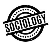 Sociology rubber stamp. Grunge design with dust scratches. Effects can be easily removed for a clean, crisp look. Color is easily changed Stock Photography