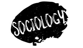 Sociology rubber stamp. Grunge design with dust scratches. Effects can be easily removed for a clean, crisp look. Color is easily changed Stock Photos