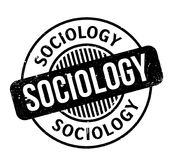 Sociology rubber stamp. Grunge design with dust scratches. Effects can be easily removed for a clean, crisp look. Color is easily changed Stock Image