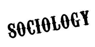 Sociology rubber stamp. Grunge design with dust scratches. Effects can be easily removed for a clean, crisp look. Color is easily changed Royalty Free Stock Photo