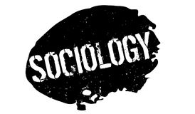 Sociology rubber stamp. Grunge design with dust scratches. Effects can be easily removed for a clean, crisp look. Color is easily changed Royalty Free Stock Images