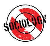 Sociology rubber stamp. Grunge design with dust scratches. Effects can be easily removed for a clean, crisp look. Color is easily changed Stock Photo