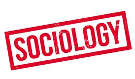 Sociology rubber stamp. Grunge design with dust scratches. Effects can be easily removed for a clean, crisp look. Color is easily changed Royalty Free Stock Image