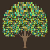 Sociology Tree - people pictogram Stock Photography