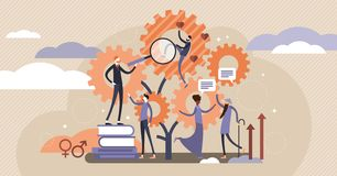 Sociology vector illustration. Flat tiny scienece ethnical persons concept. Sociology vector illustration. Flat tiny research ethnical persons concept vector illustration
