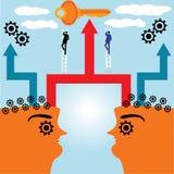 Socios comerciales en concepto de la acción ilustración del vector