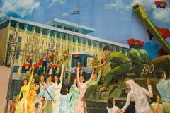 Socjalistyczny realizm w Ho Chi Minh mieście Fotografia Royalty Free