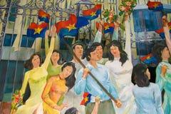 Socjalistyczny realizm w Ho Chi Minh mieście Obraz Royalty Free