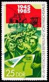 Socjalistyczny rolnictwo, 40th rocznica wyzwolenia seria około 1985, zdjęcia royalty free