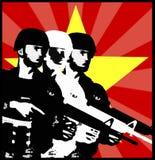 Socjalistyczny tematu wojskowego szablon Zdjęcia Royalty Free