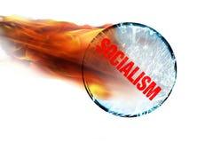 Socjalizm na ogieniu obraz stock