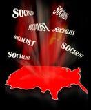 Socjalizm w Ameryka obraz royalty free
