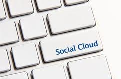 Socjalny chmury guzik Zdjęcie Stock