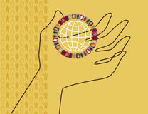 socjologia świat royalty ilustracja