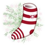 Sock. The striped sock for the gift of Santa Royalty Free Illustration