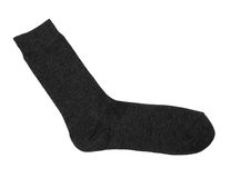 Sock. Black sock isolated on white Royalty Free Stock Photos