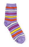 Sock with bright stripes Royalty Free Stock Photography