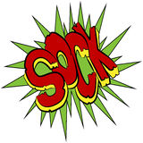 Sock Comic Sound Effect Text. An image of a sock comic sound effect text Stock Images
