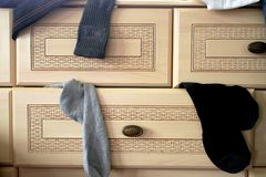 Sock drawer Royalty Free Stock Images