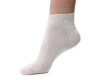 Sock on the foot. Stock Images