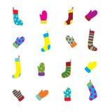 Sock & Glove Set Stock Images