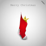 Sock, Merry Christmas design Stock Image