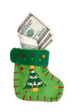 Sock with money Stock Images