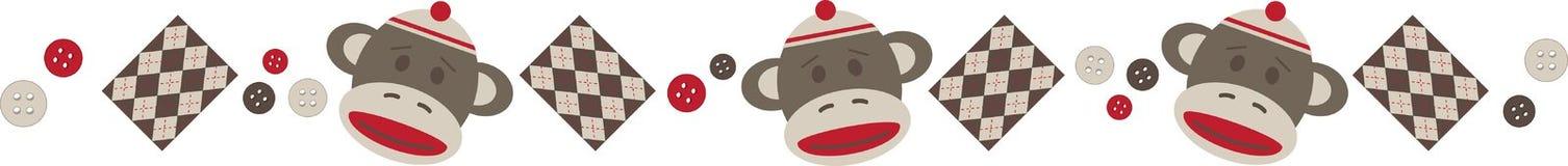 Sock Monkey Border Royalty Free Stock Photo