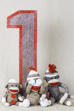 Sock Monkey Layout Royalty Free Stock Images