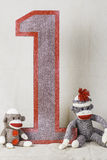 Sock Monkey Layout Royalty Free Stock Photo