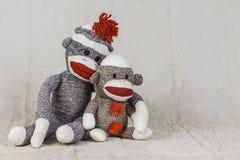 Sock Monkey Layout Royalty Free Stock Images