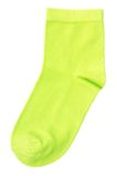 The sock. One green sock on pure white background stock photography