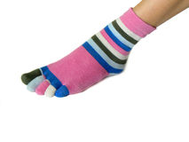 Sock with toes Stock Photos