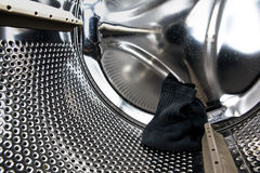 Sock in Washer Stock Photo