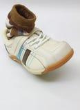 Socke im Schuh Stockbild