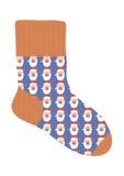 Socke mit dem Bild von Weihnachtsmann vektor abbildung