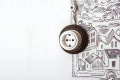 Sockel auf der Wand lizenzfreies stockfoto