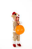 Socken-Affe-Halloween-Kostüm Stockbild