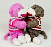 Socken-Affe-Umarmung Lizenzfreies Stockbild