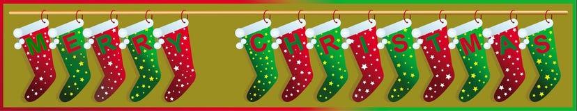 Socken der frohen Weihnachten Lizenzfreie Stockfotografie