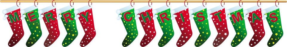 Socken der frohen Weihnachten Lizenzfreie Stockbilder