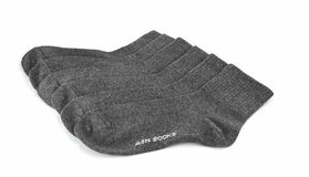 Socken lokalisiert auf einem weißen Hintergrund Stockfotos