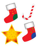 Socken, Lutscher und Stern Stockfoto