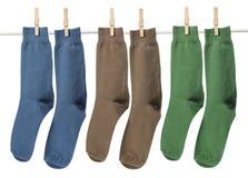 Socken mit Stöpseln lizenzfreie stockbilder