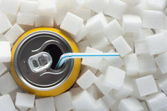 Socker i mat royaltyfri fotografi