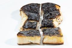 Socker- och smörrostat bröd mot bakgrund Arkivbild
